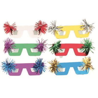 Álarc szemüveg formájú 6 db / csomag