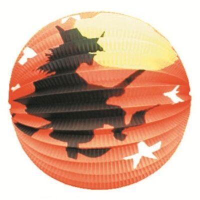 Lampion 23 cm gömb - boszorkány