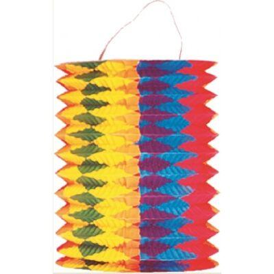 Lampion - henger, függőleges csíkokkal 22x 15 cm
