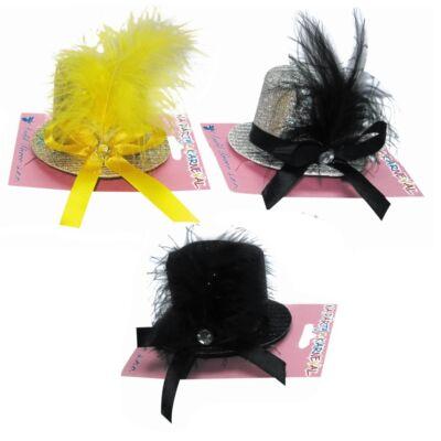 Tollas kalap kis méretben hajcsattal