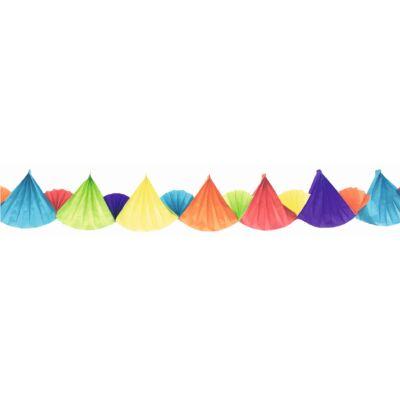 Girland, papír, 300x18,5x2,5cm háromszögek