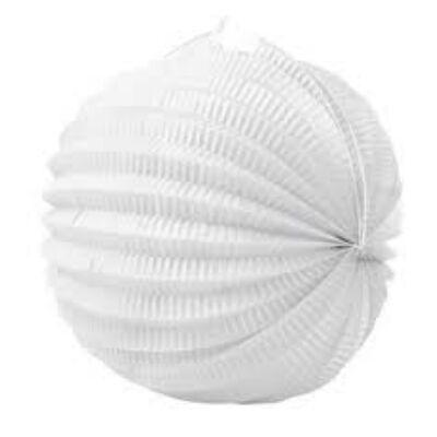 Gömb lampion fehér 22 cm 1 db