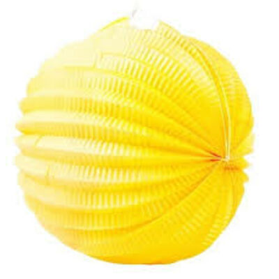 Gömb lampion sárga 25 cm 1 db