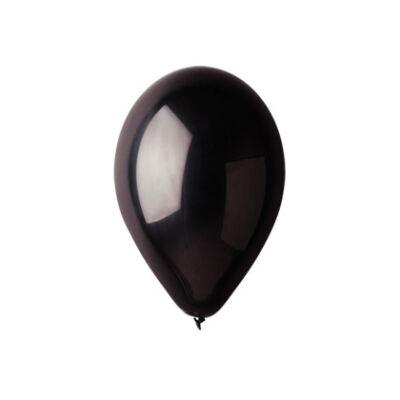 Gemar 26cm egyszínű lufi - fekete, 100db
