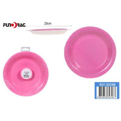 Rózsaszín minta,Tányér 23cm 6db