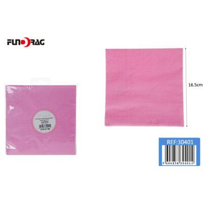Rózsaszín minta, Szalvéta 33x33cm 16db/csomag