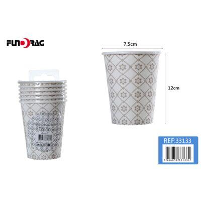 Virágos minta- papír pohár 6db/csom