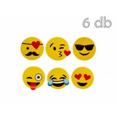 Smiley matrica 9 cm 5 db / csomag