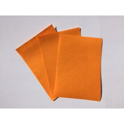 Filclapok 20x30cm 1mm 10db narancssárga