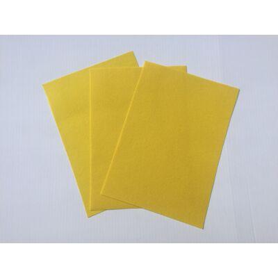 Filclapok 20x30cm 1mm 10db sárga