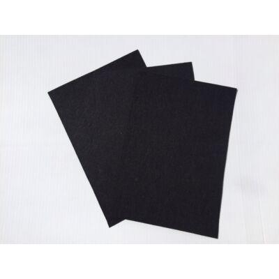 Filclapok 20x30cm 1mm 10db fekete