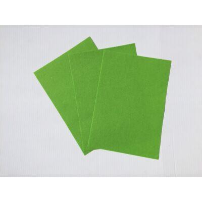 Filclapok 20x30 cm 1mm, 10db - zöld