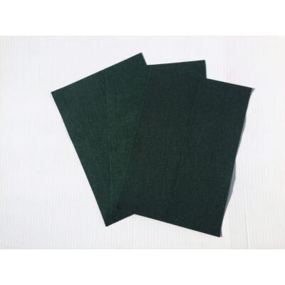 Filclapok 20 x 30 cm 1 mm 10 b sötétzöld