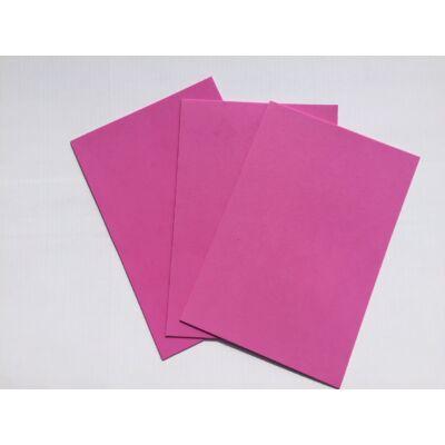 Dekorgumi A4 2mm, rózsaszín, 10db/csomag