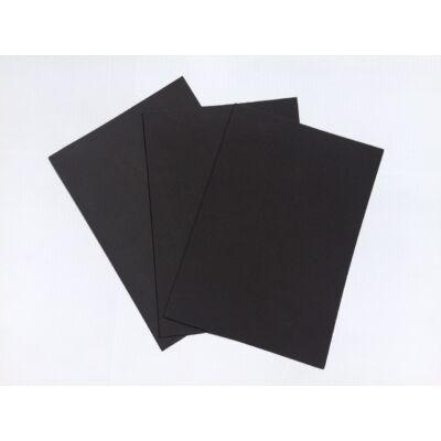 Dekorgumi A4 2mm, fekete, 10db/csomag