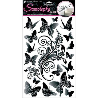 Falmatrica - Szürkésfekete pillangók,  60 x 32 cm