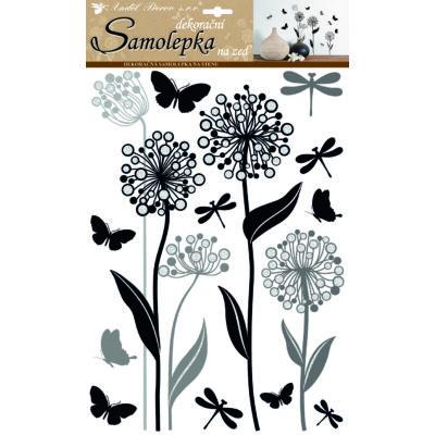 Falmatrica - Glitteres virágok 41 x 29 cm