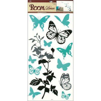 Falmatrica -Türkiz pillangók,  69 x 32 cm