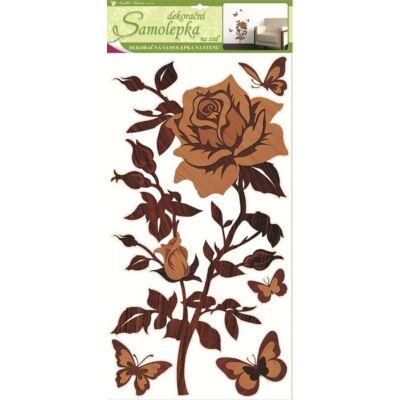 Falmatrica- Rózsa , fa imitáció - 69 x 32 cm