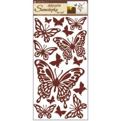 Falmatrica - Barna pillangók , 69 x 32 cm