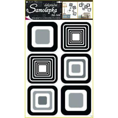 Nagy méretü falmatrica 60x42 cm - Fekete négyzetek