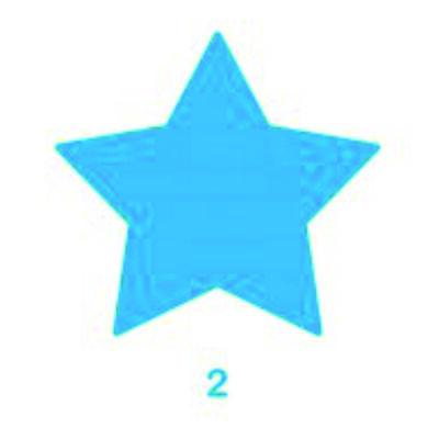 Kreatív formalyukasztó 50 mm Csillag minta