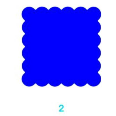 Kreatív formalyukasztó 65 mm Cakkos négyzet