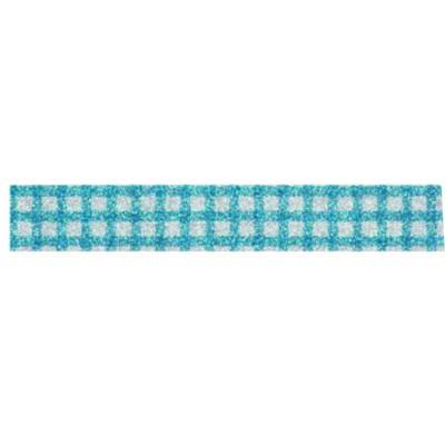 Kreatív mintás glitteres pvc ragasztószalag 1,5 cm x 10m ezüst kis négyzetek