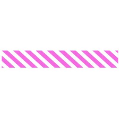Kreatív mintás washi ragasztószalag 1,5 cm x 10m rózsaszín vonalas
