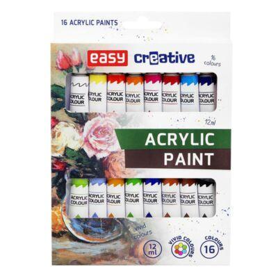 Akrilfesték készlet  16 szín,  12 ml